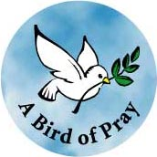 PEACE SYMBOL: Bird of Pray PEACE DOVE--BUTTON