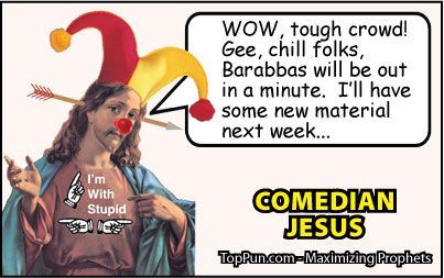 Jesus Cartoon: Comedian Jesus - Tough Crowd