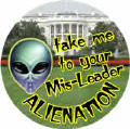 Alienation - Take Me To Your Mis-Leader - George Bush-ANTI-BUSH COFFEE MUG