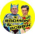 Badman and Robbin Bush Cheney - Batman and Robin parody-ANTI-BUSH STICKERS
