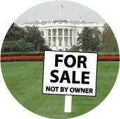 FOR SALE Not By Owner - Bush white house picture-ANTI-BUSH T-SHIRT
