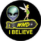 I BELIEVE - WMD - Alien - Tinker Bell picture-ANTI-BUSH T-SHIRT