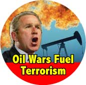 Bush - Oil Wars Fuel Terrorism-ANTI-BUSH BUMPER STICKER