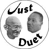 Just Duet - Gandhi-King-PEACE BUMPER STICKER