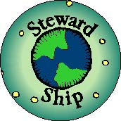 Steward Ship - Planet Earth Picture-POLITICAL BUTTON