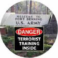 Danger - Terrorist Training Inside (Fort Benning SOA) - SOA T-SHIRT