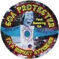 SOA Protester - Fort Benning, Georgia - I'm a Repeat Attender - SOA BUTTON