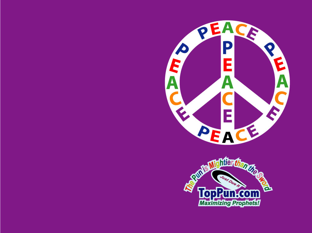 Black and Colorful Peace Sign