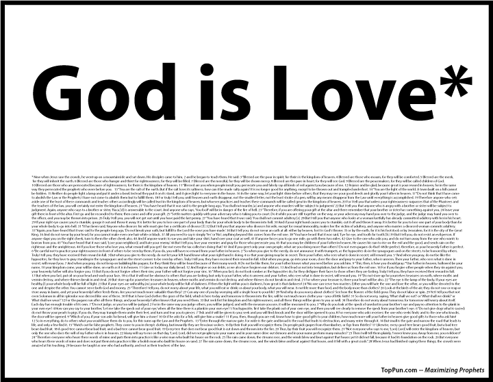FREE POSTER: God is Love (with asterisk)
