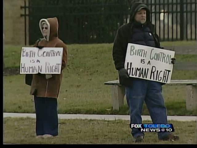 Birth Control as Human Right Protesters in Toledo, Ohio