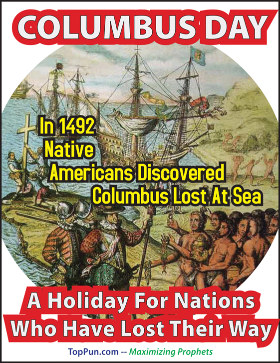 COLUMBUS DAY - Lost Our Way FREE POSTER