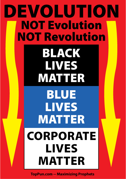 Black Lives Matter Devolution Poster