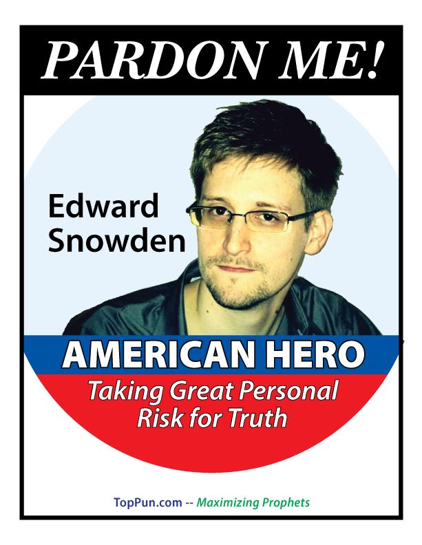 FREE EDWARD SNOWDEN POSTER: Pardon Me!
