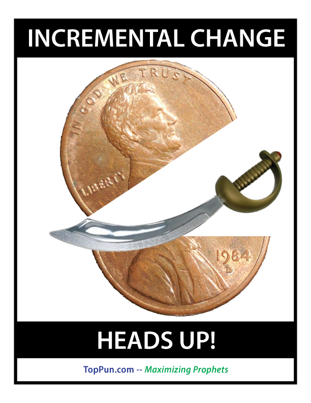 FREE POLITICAL POSTER: Incremental Change, Heads Up!