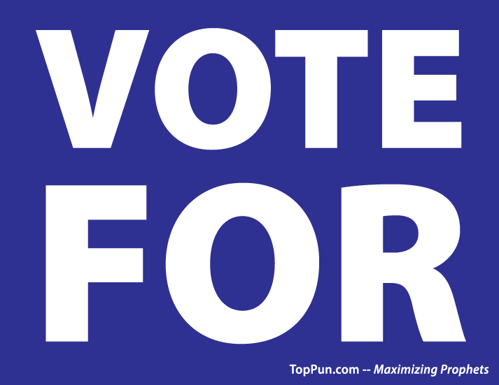 Free Election Poster: VOTE FOR