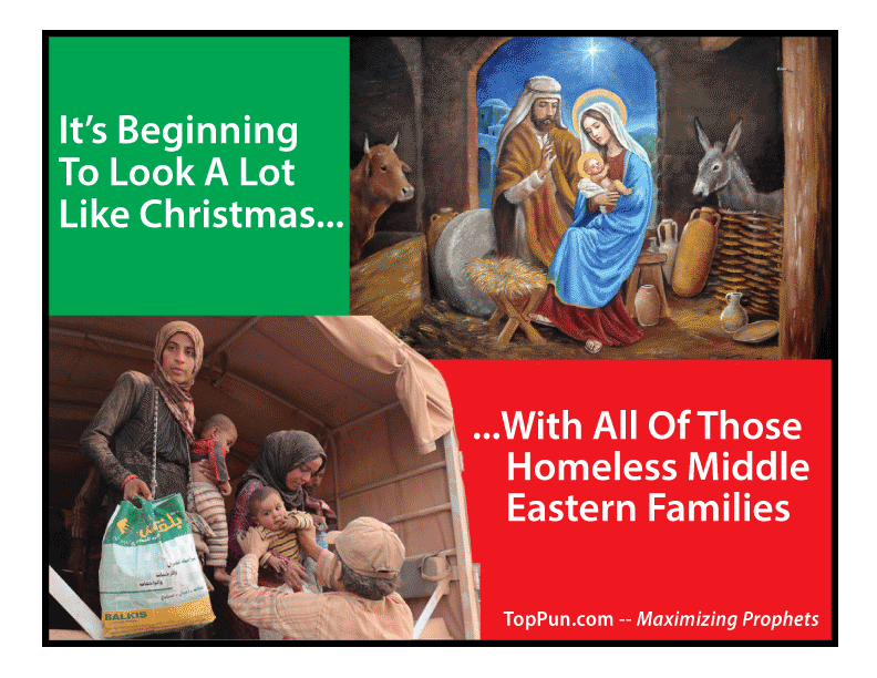 Homeless Refugee Nativity Christmas -- FREE POSTER