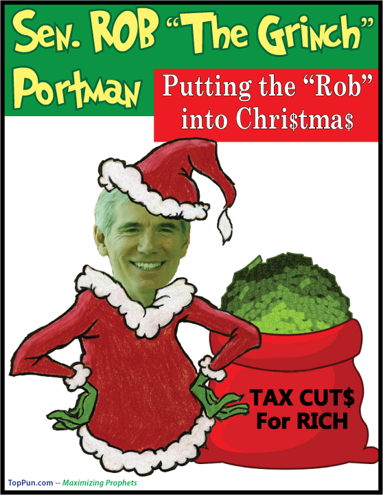 Senator Rob Portman The GRINCH Putting The ROB in Christmas