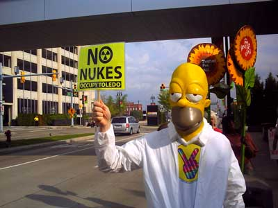 anti-nuke Homer Simpson