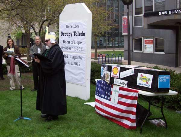 Mock Funeral Preacher (Rev. Ed Heilman)
